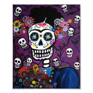 Señora día mexicana de la pintura muerta fotografía