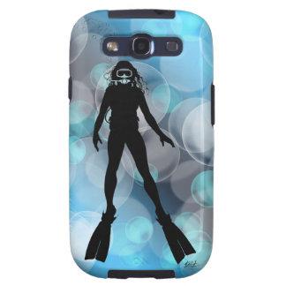 Señora Diver en burbujas Samsung Galaxy SIII Funda