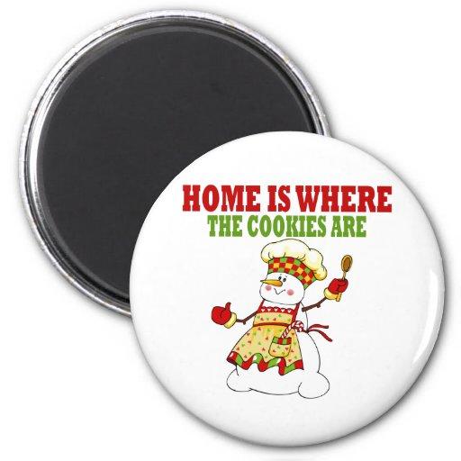 Señora divertida Cookie Chef de la nieve Imán Para Frigorifico