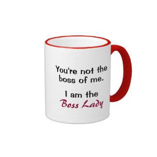 Señora divertida Mug Gift de Boss del humor de la Taza De Dos Colores