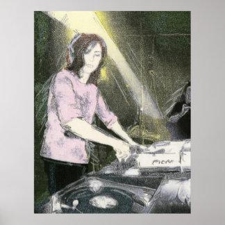 Señora DJ Póster