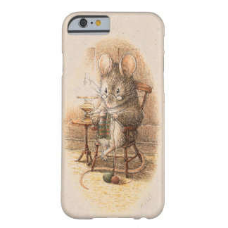 Señora Dormouse Knitting Funda De iPhone 6 Barely There
