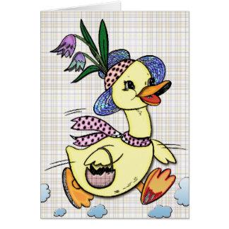 Señora Duck y su tarjeta del dibujo animado del
