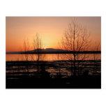 Señora durmiente Sunset - Anchorage, Alaska Tarjetas Postales