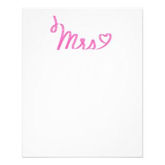 """""""Señora"""" - efecto rosado cursivo de la cinta con Folleto 4.5"""" X 5.6"""""""