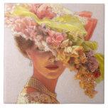 Señora elegante Art Tile del Victorian del vintage Tejas Cerámicas