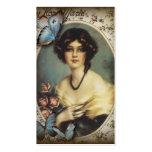 Señora elegante Fashion de París de la mariposa Plantilla De Tarjeta De Negocio