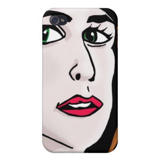 Señora elegante iPhone 4/4S fundas
