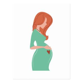 Señora embarazada tarjetas postales