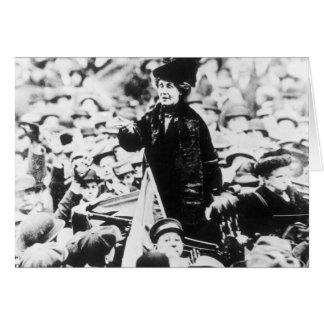 Señora Emmeline Pankhurst Addressing una muchedumb Felicitaciones