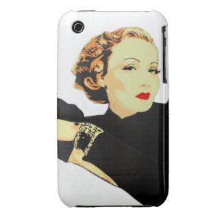 Señora en caja negra iPhone 3 Case-Mate cárcasa