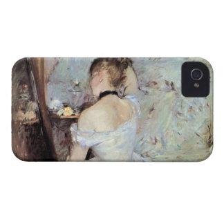 Señora en el retrete de Berthe Morisot iPhone 4 Case-Mate Carcasa
