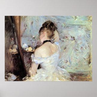 Señora en el retrete de Berthe Morisot Póster