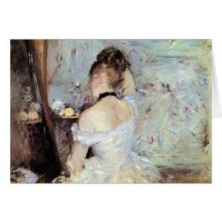 Señora en el retrete de Berthe Morisot Tarjeta De Felicitación