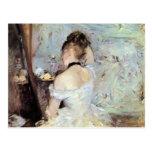Señora en el retrete de Berthe Morisot Tarjeta Postal