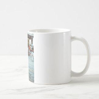 Señora en el vestido azul - película taza de café