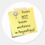 señora en la Argentina Pegatina Redonda