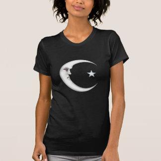 Señora en la luna camiseta