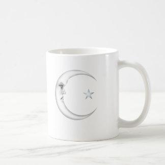 Señora en la luna taza de café