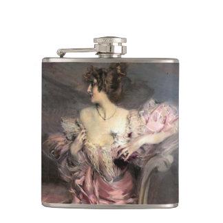 Señora en la pintura antigua rosada AddUrName romá