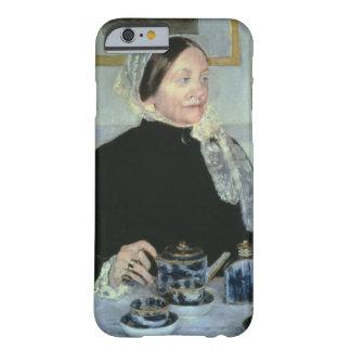 Señora en la tabla de té, 1885 (aceite en lona) funda de iPhone 6 barely there