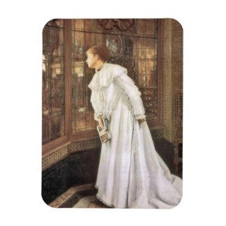 Señora en las escaleras imán flexible