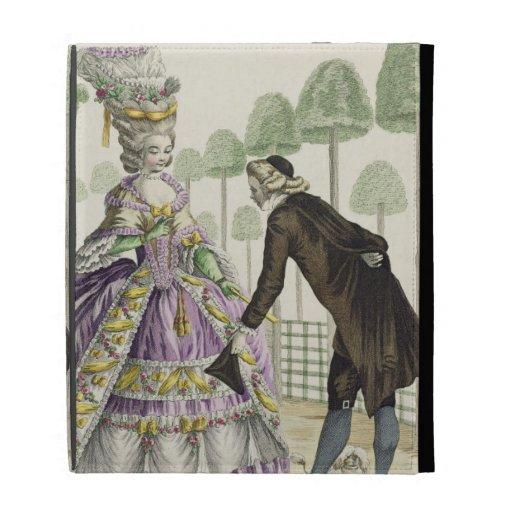 """Señora en """"promenade"""" de un vestido de la lila en"""