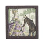 """Señora en """"promenade"""" de un vestido de la lila en  cajas de regalo de calidad"""