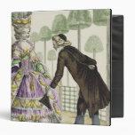 """Señora en """"promenade"""" de un vestido de la lila en carpeta 1 1/2"""""""