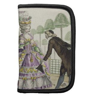 """Señora en """"promenade"""" de un vestido de la lila en  organizadores"""