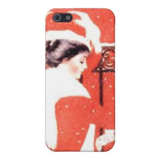 Señora en rojo iPhone 5 funda