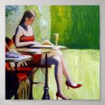 Señora en rojo poster