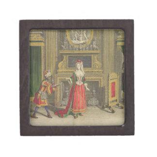 Señora en su dormitorio, c.1688-90 publicado (colo cajas de regalo de calidad