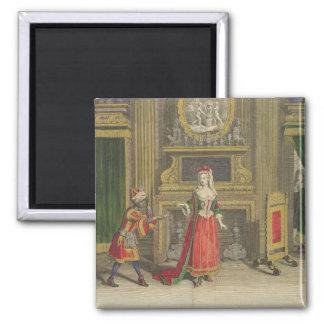Señora en su dormitorio, c.1688-90 publicado (colo imanes
