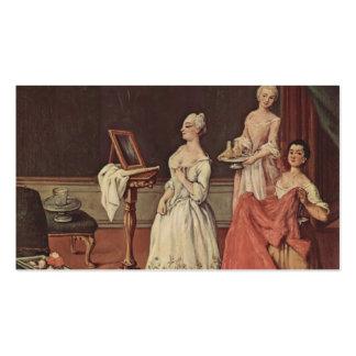 Señora en su Toilette de Pietro Longhi Tarjeta De Negocio