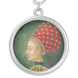 Señora en un collar rojo de Balzo