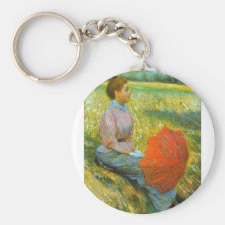 Señora en un prado de Federico Zandomeneghi Llaveros Personalizados