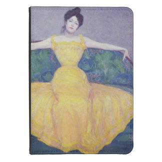 Señora en un vestido amarillo, 1899 funda de kindle