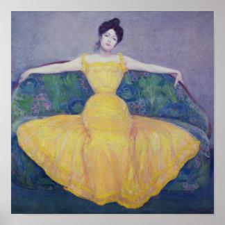Señora en un vestido amarillo, 1899 impresiones