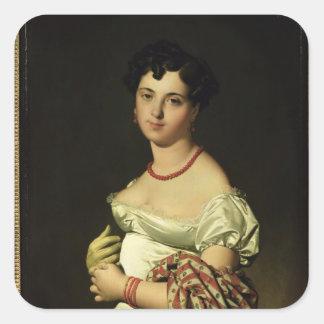 Señora Enrique-Felipe-José Panckouke 1811 Pegatina Cuadrada