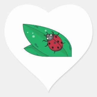 Señora escarabajo pegatinas corazon personalizadas