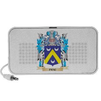 Señora escudo de armas - escudo de la familia altavoz de viaje