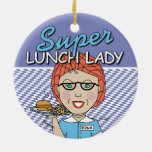 Señora estupenda del almuerzo ornamentos de navidad
