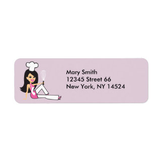 Señora etiquetas de devolución del panadero etiquetas de remite