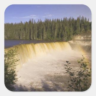 Señora Evelyn Falls Territorial Park, al noroeste Pegatina Cuadrada