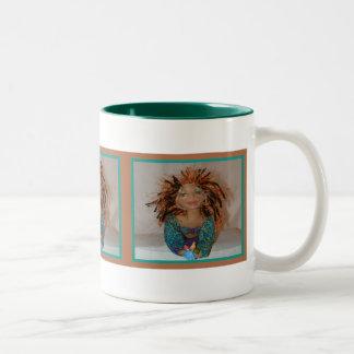 Señora exótica Mug Taza De Dos Tonos