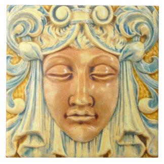 Señora Face Vintage Art Tile impresa Azulejo Cuadrado Grande