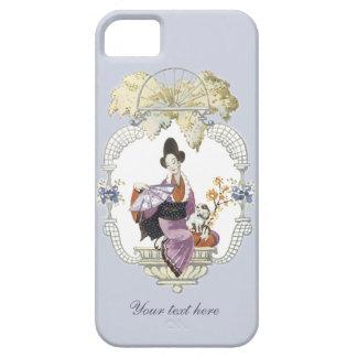 Señora Fan y perro iPhone 5 Case-Mate Carcasa