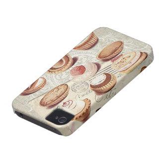Señora Fashion de París del vintage de la iPhone 4 Case-Mate Funda