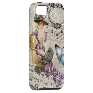 señora Fashion de París del vintage de la letra de iPhone 5 Case-Mate Protectores